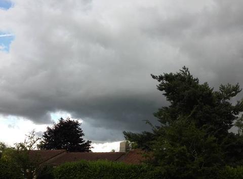 Orage avec forte pluie