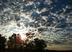 Ciel Les Cheres 69380 Levé de soleil