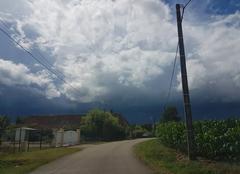 Orage Branges 71500 Arrivé de l'orage