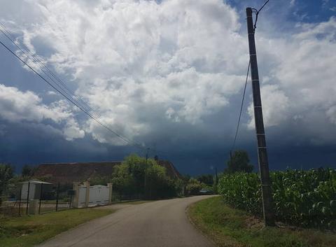 Arrivé de l'orage