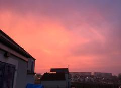 Nuages Auxerre 89000 Ciel de feu