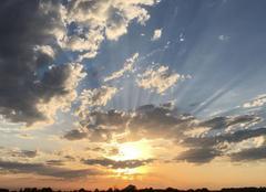 Ciel Camps-sur-l'Isle 33660 Couché de soleil