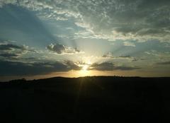 Ciel D'Huison-Longueville 91590 Levé de soleil