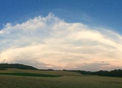 Ciel Rebreuve-Ranchicourt 62150 Quand l'orage s'en va et que le Soleil se couche