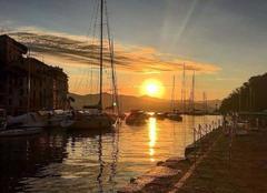 Ciel Portofino 16034 Coucher de soleil sur Portofino