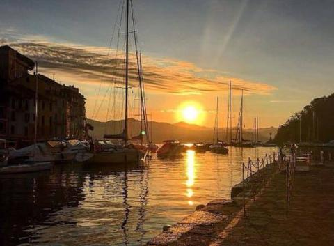 Coucher de soleil sur Portofino