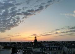Ciel Poitiers 86000 Soleil couchant