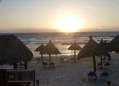 Lever de soleil plage Akumal
