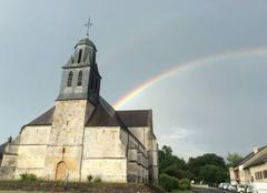 Ciel Launois-sur-Vence 08430 Arc-en-ciel sur l'église