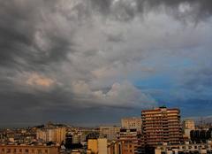 Nuages Paris 75000 Ciel d'orage sur Montmartre à 6h05