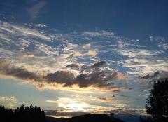 Ciel Commelle-Vernay 42120 Couche de soleil
