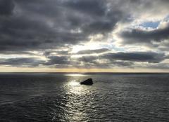 Ciel Plévenon 22240 L'amas du Cap Fréhel au soleil couchant