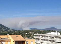 Ciel Vence 06140 Incendie d'été