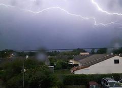 Orage Saint-Medard-en-Jalles 33160 éclair