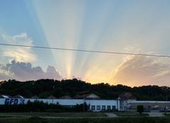 Ciel L'Isle-sur-le-Doubs 25250 Soleil couchant