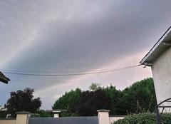 Nuages Saint-Pey-d'Armens 33330 Début de l'orage