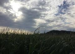 Nuages Mours-Saint-Eusebe 26540 Soleil couchant et ciel orageux