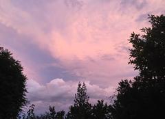 Nuages Mours-Saint-Eusebe 26540 Nuages de grêle dans le reflet du couchant ce soir