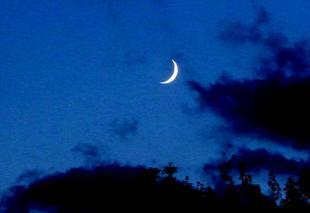 Ciel Nouaille-Maupertuis 86340 Premier quartier de lune