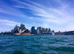 Ciel Sydney Arrivée sur Sydney en ferry