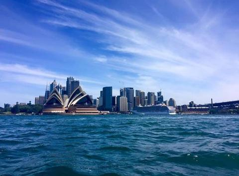 Arrivée sur Sydney en ferry