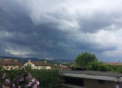 Ciel La Talaudiere 42350 Orages sur les collines stéphanoises