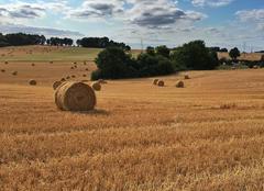 Nuages Villers-sur-Trie 60590 Fin de moisson dans le Vexin