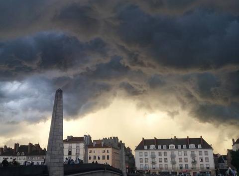 Ciel apocalyptique d'orage...