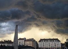 Orage Chalon-sur-Saone 71100 Ciel apocalyptique...