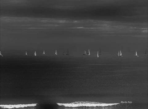 Bateaux sur l'eau en black and white by Marita Netz