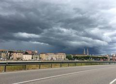 Nuages Saint-Laurent-sur-Saone 01750 Cellule orageuse Mâconnaise