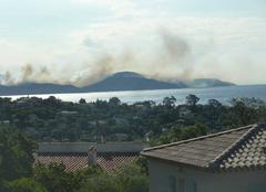 Tempête La Croix-Valmer 83420 Incendie à Gigaro (La Croix-Valmer)