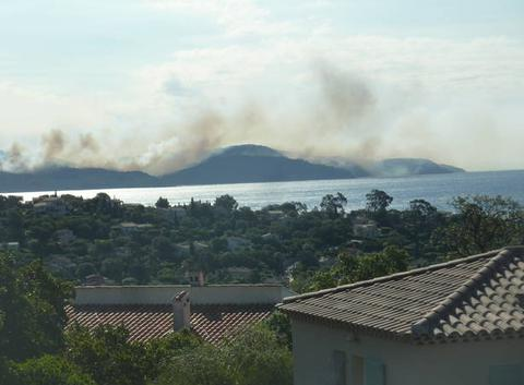 Incendie à Gigaro (La Croix-Valmer)