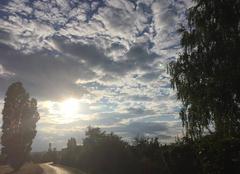 Nuages Mours-Saint-Eusebe 26540 Soleil levant