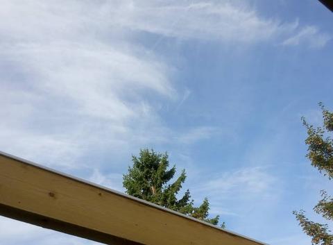 Fraîcheur avec un ciel nuageux