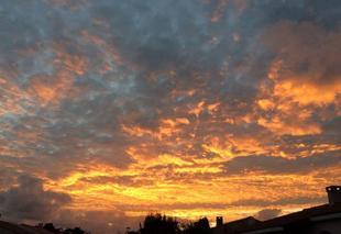 Ciel Longeville-sur-Mer 85560 Coucher de soleil à Longeville sur mer