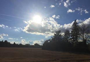 Ciel Saint-Paul-les-Romans 26750 Soleil couchant
