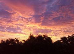 Ciel Vauréal 95490 Lever de soleil sur Vaureal