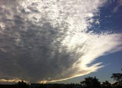 Nuages Bergerac 24100 Un drôle de nuage ce matin...