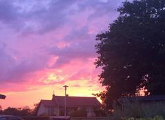 Ciel Curdin 71130 Un ciel en feu