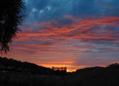 Ciel Nogent-le-Roi 28210 Fumée rose au couchant