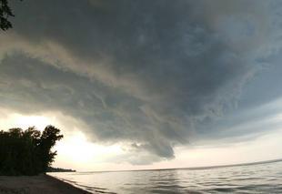 Orage Irondequoit Orage sur le lac Ontario.