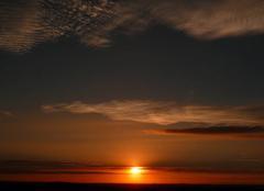 Ciel Beaubery 71220 Coucher de soleil en Charolais