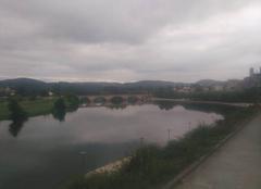 Nuages Cazeres 31220 Ciel Couvert Cazères sur Garonne, panorama bord de garonne .