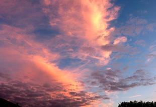 Ciel Nouaille-Maupertuis 86340 Coucher de soleil en Poitou