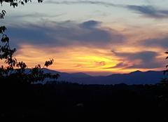 Ciel Rixheim 68170 Coucher de soleil.sur les Vosges