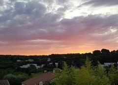 Ciel Nîmes 30000 Coucher de soleil