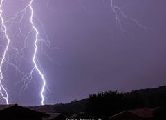 Orage Pelussin 42410 Matinée orageuse