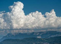 Ciel Izeaux 38140 Cumulonimbus au dessus du Vercors, 18h