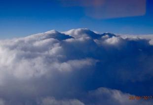 Ciel Lyon 69000 Cumulonimbus au sud de la France
